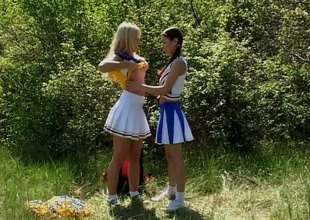Splendid girls find worthwhile licking and toying their cunts outdoors in a hot lesbians scene