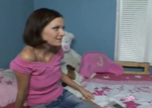 Sweet legal age teenager Alicia gives her boyfriend a damn good blowjob