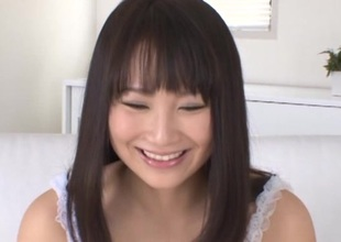 Japanese brunette in panties shaves her love tunnel and got licked