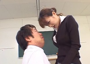 Japanese teacher is naughty painless turn this way babe fucks in classification