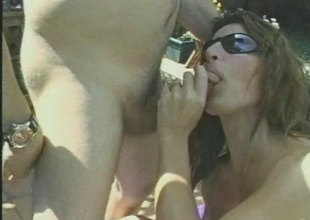 Seductive cougar and say no to hubby prize shafting hardcore outdoors
