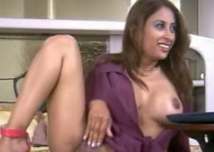 Frisky Indian model is poking her vagina with making love toy