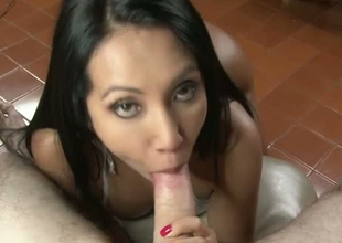 Lovely murky hair girl with delicious Colombian gazoo gives head