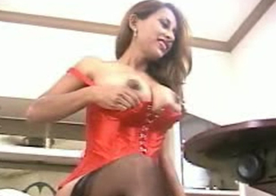 Cute and playful breasty Desi milf exposes will not hear of gorgeous boobies