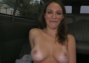 Sensational girl with big boobs is happy to hop in the bangbus