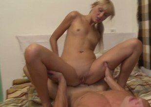 Russian bombshell is screwed bad in her tight ass hole