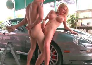Busty blonde Blake gets fucked in make an issue of public take pleasure in a slut
