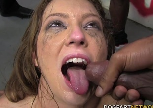 Maddy O'Reilly Sucks A Group Of Black Jocks