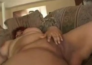 Fat BBW Latin chick GF with chesty shaven cookie loves to fuck