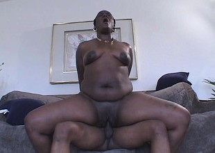 Unscrupulous hoochie mama in high heels rides on a dick like a total champ