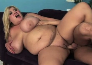 Huge titty plumper Kacey blows and gets her tits a bouncing instantly possessions fucked