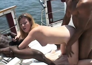 College chick went on a boat ride be advantageous to an interracial trilogy
