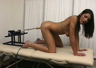 Medicate uses his kinkiest devices on a frigid patient and makes her cum