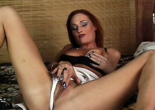 Age-old redhead gets spanked hard whilst riding a stiff sausage