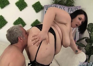 Cute plus chubby plumper Alexxxis Fascination fucking a heavy cock.