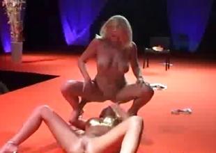 Stunner lesbian strippers sex