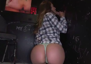 Will 4 rock hard cocks satisfy Remy Lacroix? Well, we are sure as fuck intend to find out superior to before this movie scene of Glory Hole Loads! She slurps and sucks 4 random stranger's dicks. Swallowing load after load, only taking breaks to obtain a nice quick fuck in betwixt e