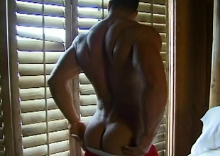 Bisexual sweetheart Billy Herrington displays his manly body beyond everything the beach.  He receives approached by an outgoing, buff brown-haired man.  Intrigued, Billy brings him to his bed.  The sex scene that follows is extremely sensual, with arrested foreplay that makes Billy'