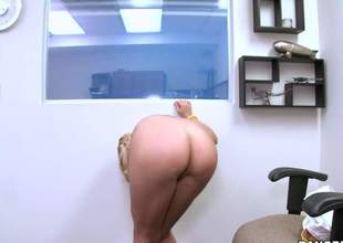 Yasmine Gold is a blonde chick with a extended white ass and shes moving down anent show it off in this here video. She loves it right away people bosh all over her ass