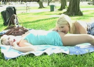 Sandy And Yana Sex In Public Park