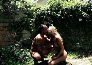 Jessie Andrews object kinky back the backyard