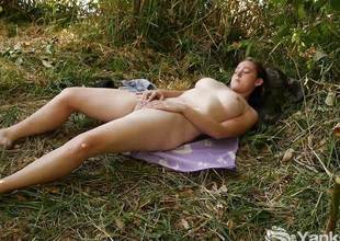 Humongous Michelle Masturbating Outdoors