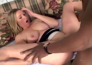 BBC not unending fucks a curvy blonde playgirl