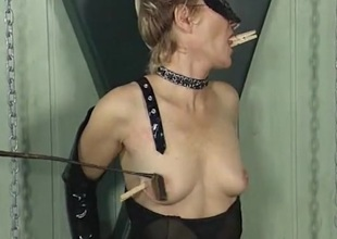 Clothes flood over on the tits of a girl campagna latex