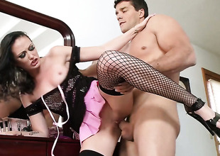 Ramon touches the hottest parts of alluring Hailey Youngs body after he penetrates her butt