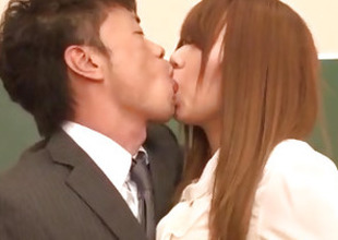 Iroha Suzumura loves having it away her teacher at teacher