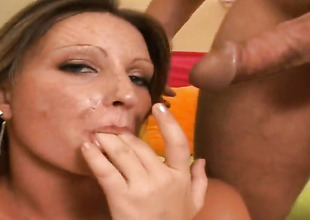 Brunette doll asks her man to rumble her sweet indiscretion