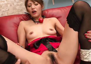 Mei Aso is completely vacant and plays with her vagina non-stop