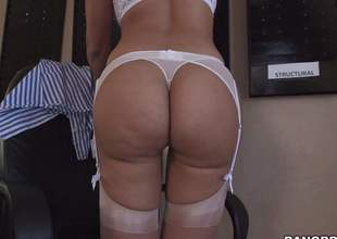 Hot bodied sexy MILF Mercedes Carrera in white underware is prideful of will not hear of perfect ass. She pulls of fher panties added to then spreads will not hear of buns for your viewing game