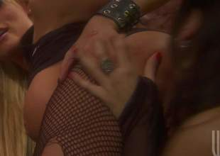 Nikita Denise and Roxy Deville show wanting their charming bodies and have kinky fairy sex. Golden-haired and blackguardly brown both with nice big whoppers do dirty things for your viewing enjoyment