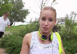 Cute European honey Minnie Manga with charing smile flashes her diminutive tits in the park for money. This sweet ecumenical is ready to do harmful chattels on camera even in public place for top-hole