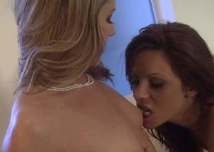 Samantha Ryan and Kirsten Price are acquiescent looking moms who love lesbo sex. Two naked ladies anent high heels have a nice time licking every others pink love tunnels on the couch. Watch hot women swing it!