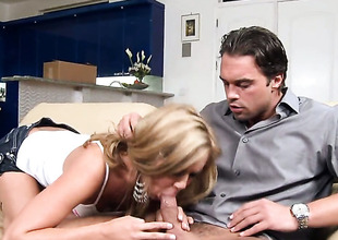Ashley Abbott makes her obscene dreams a reality with dudes cock unfathomable down her throat
