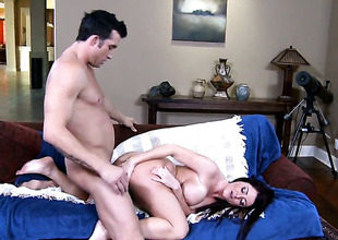 Billy Glide buries his throbbing tool just about horny as hell Sophie Dees gap