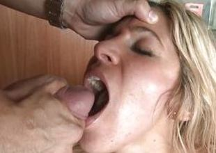 Carol Ferrer loves guzzling down warm jizz