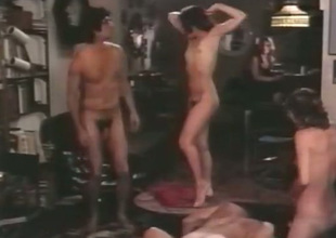 We've got a stripe of intercourse starved people in this hot group intercourse scene