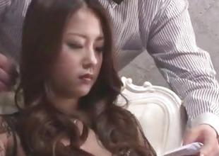 Satomi Suzuki feels more than duo cock cracking her vag