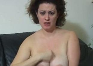 Unfavourable milf enjoys rub-down their way big natural boobies