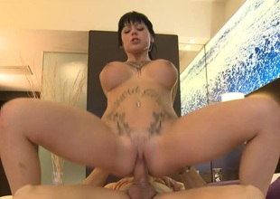 Jenny Abiding Kneels Down to Perform a Perfect Blowjob on the Whirl