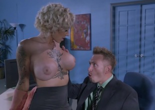 Massive special office slut drilled until trickle