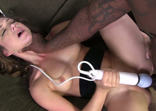 Obstructed sweetheart Remy Lacroix bore fucked by a hot black man