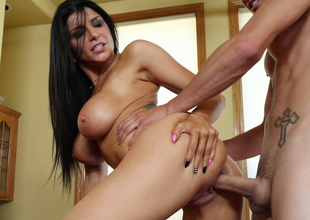 Hawt impenetrable bitch with big boobs Romi Rain banged concerning doggystyle