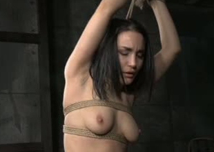 Beautiful girl Gabriella Paltrova is bound up in BDSM video