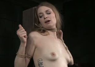 Pale skinned bitch Ela Suitor is kickshaw fucked in Sadomasochism porn video