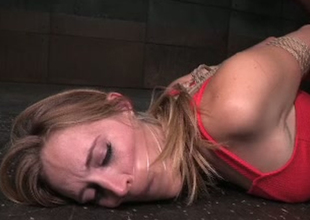 Bondaged porn model Mona Wales is toy fucked in libellous Sadomasochism porn video
