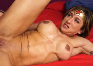 Superwoman is always obedient for a big fat dick